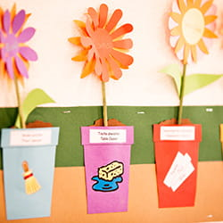 Handcrafted flowers at SIS Swiss International School