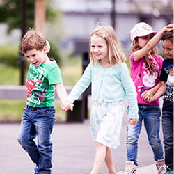 Walking together at SIS Swiss International School